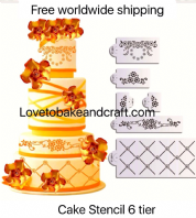 Wedding cake stencil, Cake stencil, Free worldwide shipping (1) (2) (5) (6) (8) (9)